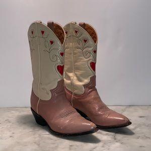 Vintage Pink Justin Cowboy Boots